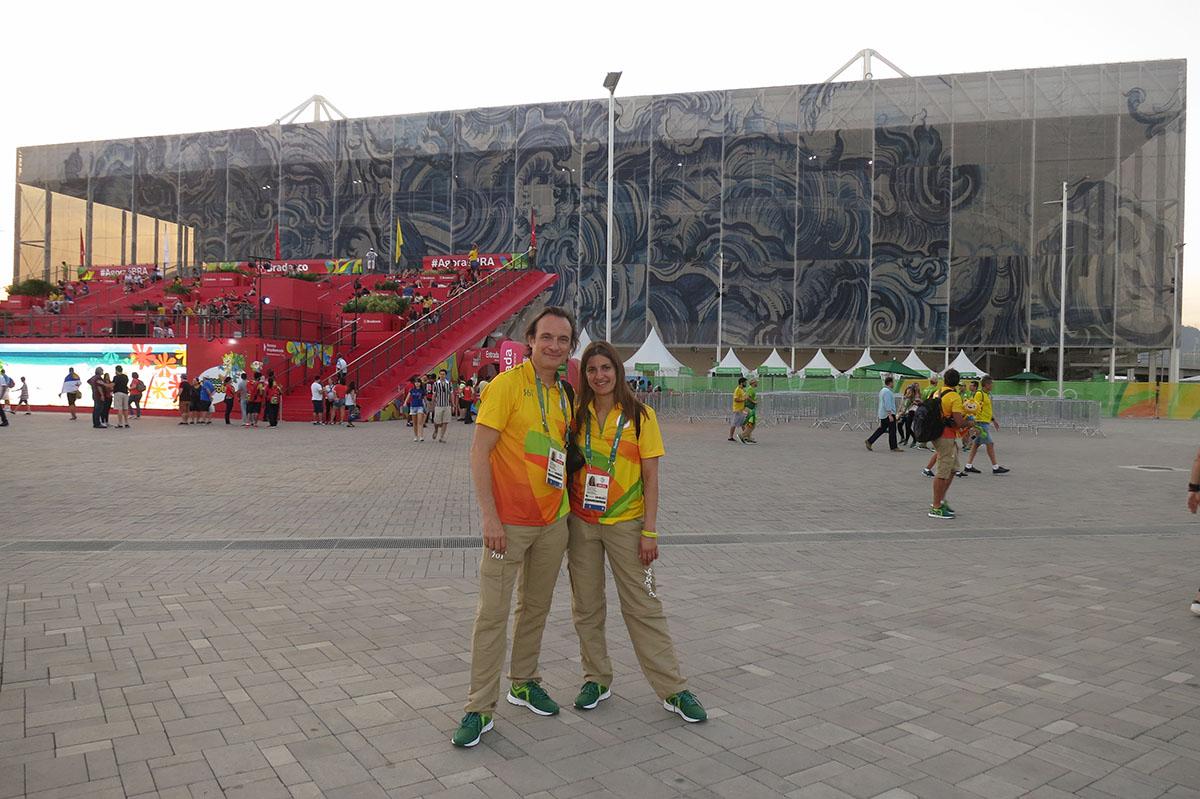 Dr Marija Anđelković i dr Nenad Dikić u Olimpijskom Parku