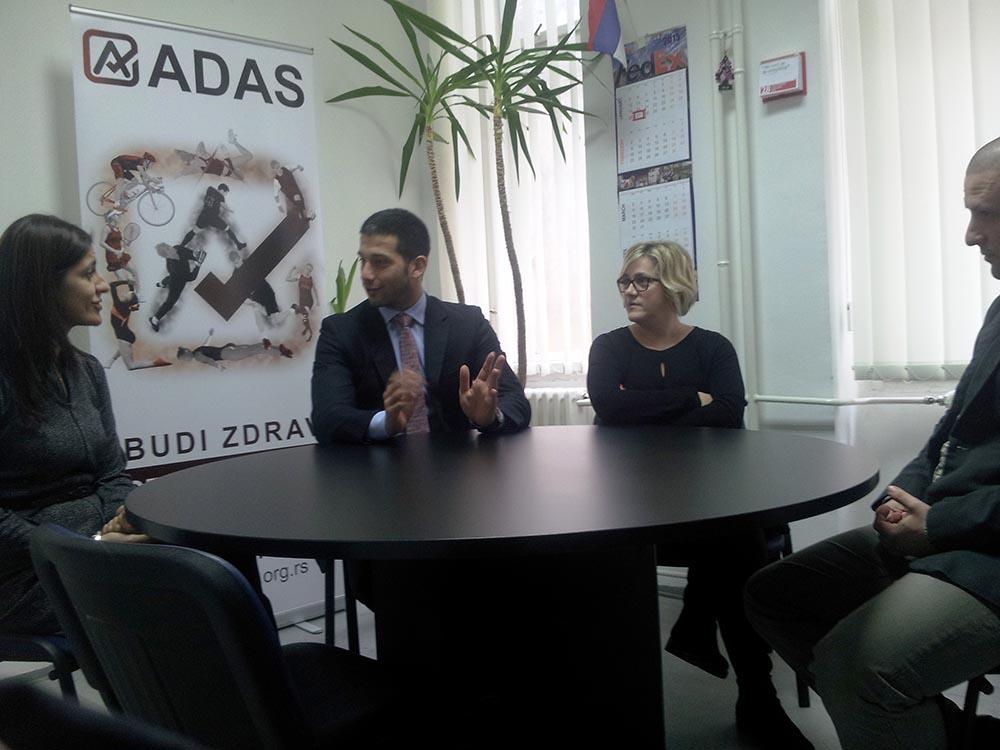 Ministar Vanja Udovičić u poseti Antidoping agenciji